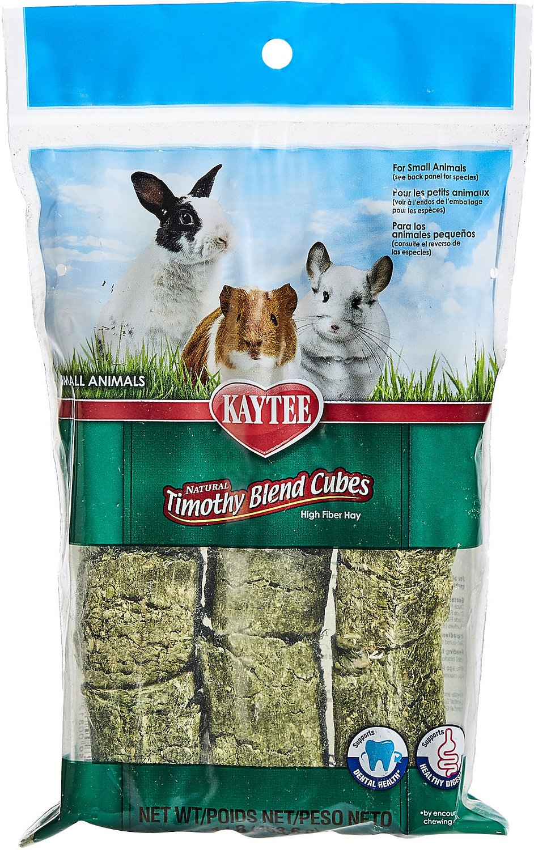 Kaytee Natural Timothy Cubes Small Animal Treats, 1-lb bag