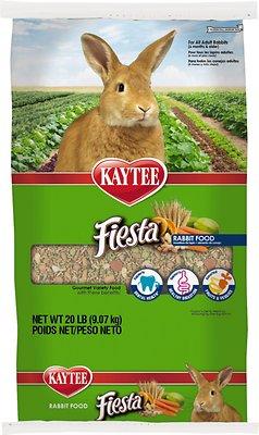 Kaytee Fiesta Gourmet Variety Diet Rabbit Food, 20-lb bag