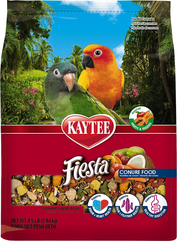 Kaytee Fiesta Variety Mix Conure Bird Food, 4.5-lb bag