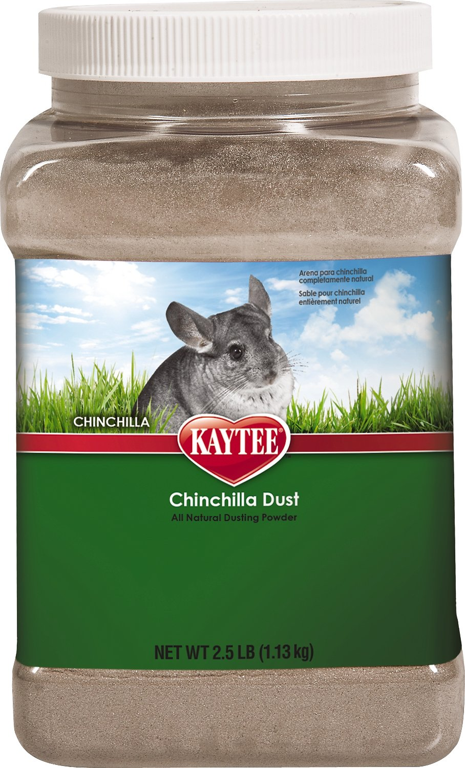 Kaytee Chinchilla Dust Bath, 2.5-lb jar