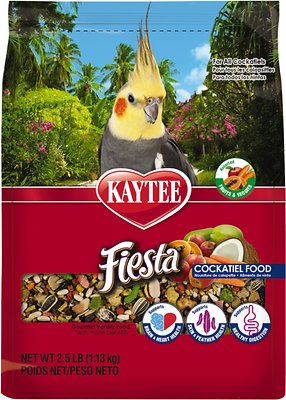 Kaytee Fiesta Variety Mix Cockatiel Bird Food, 2.5-lb bag