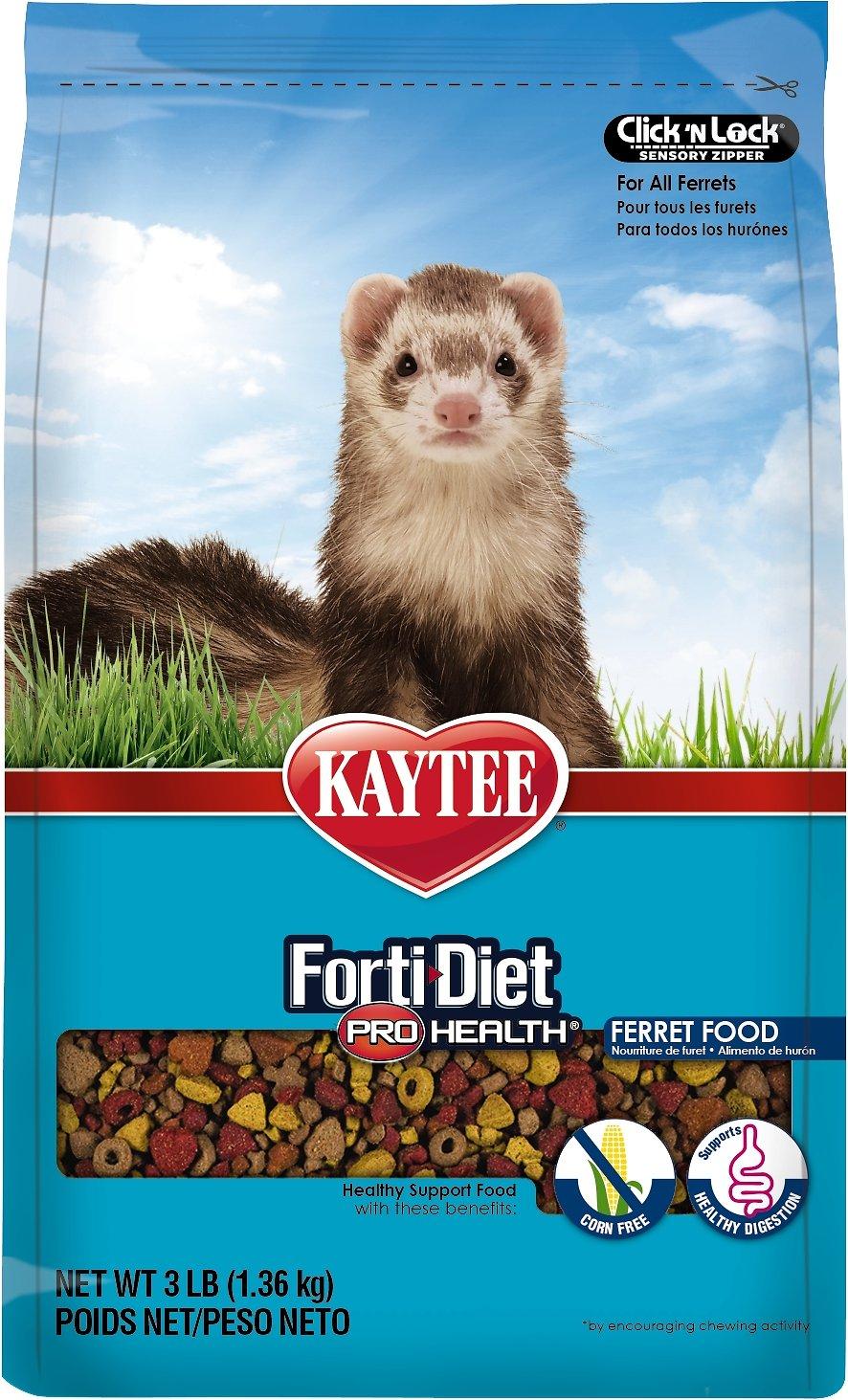 Kaytee Forti-Diet Pro Health Ferret Food, 3-lb bag