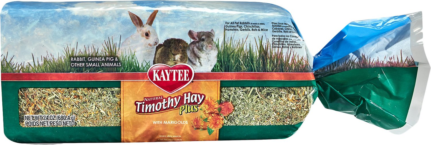 Kaytee Timothy Hay Plus Marigolds Small Animal Treat, 24-oz bag