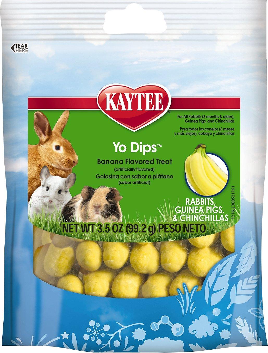 Kaytee Fiesta Banana Flavored Yogurt Dipped Rabbit, Guinea Pig & Chinchilla Treats, 3.5-oz bag