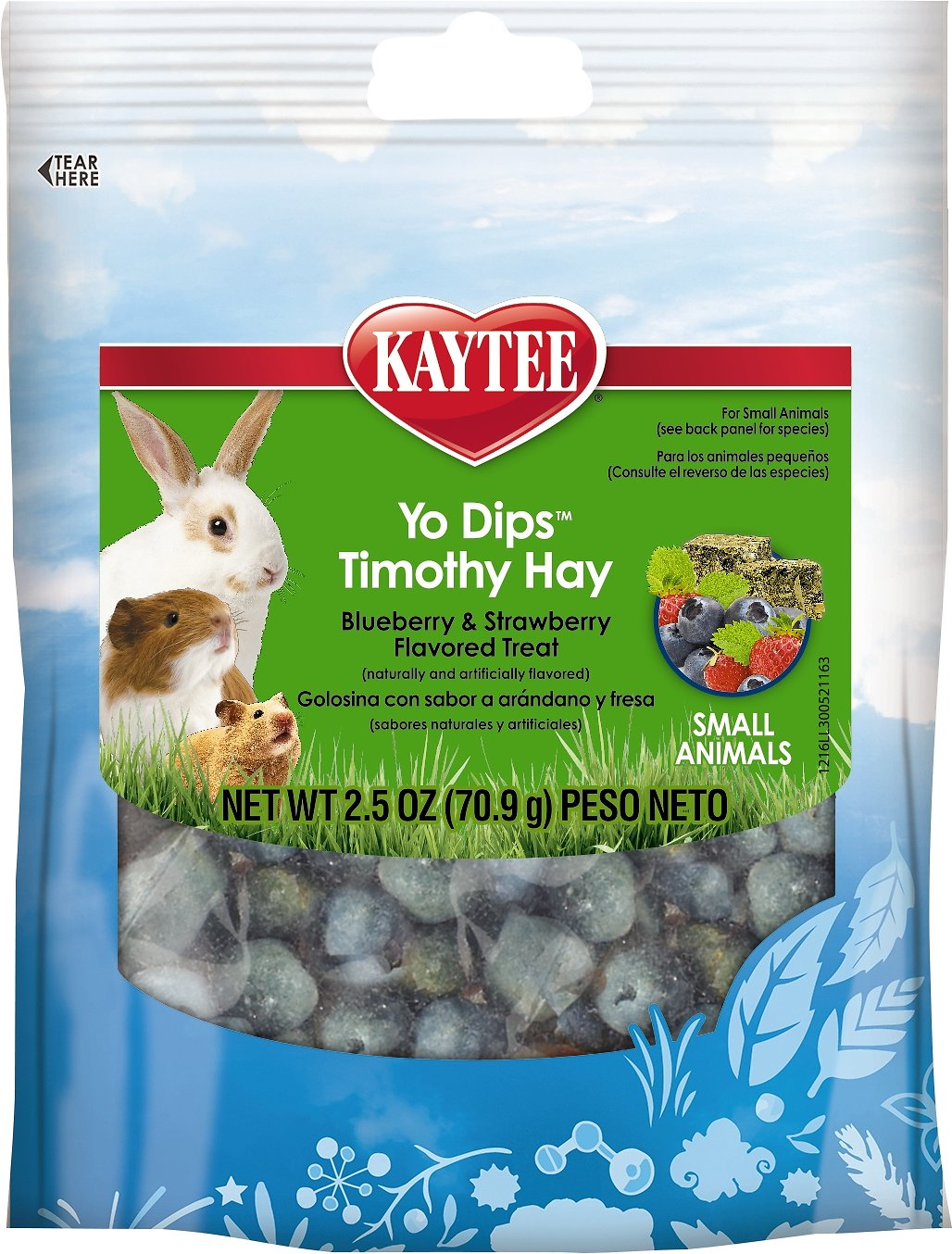 Kaytee Mixed Berry Flavor Yo Chips For Rabbit And Guinea Pig, 3.5-oz bag