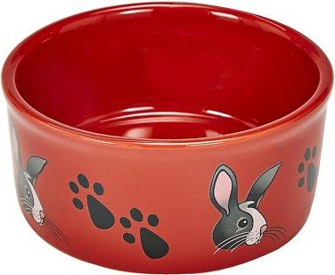 Kaytee Paw Print Small Animal Food & Water Bowl, Color Varies, Bunny