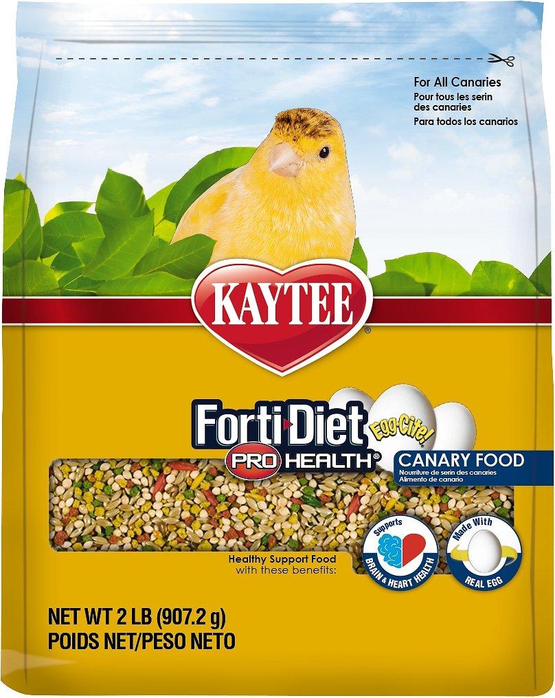 Kaytee Egg-Cite! Forti-Diet Pro Health Canary Bird Food, 2-lb bag