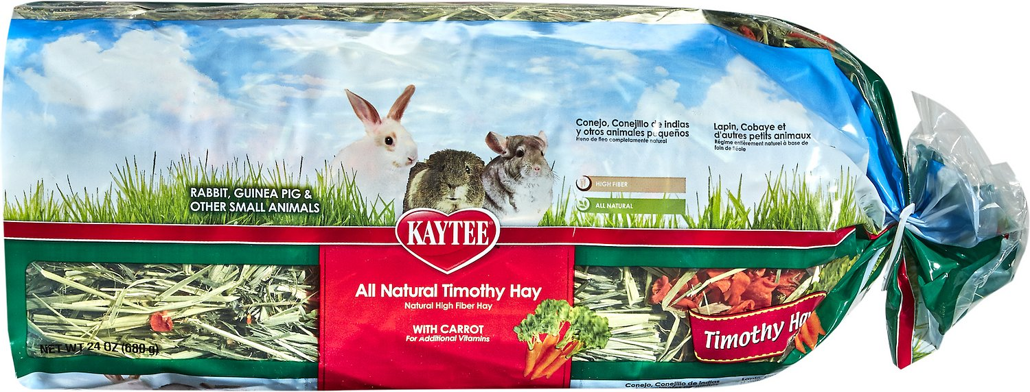 Kaytee Timothy Hay Plus Carrots Small Animal Treat, 24-oz bag