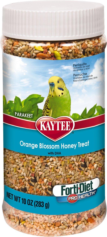 Kaytee Forti-Diet Pro Health Orange Blossom Honey Parakeet Bird Treats, 10-oz jar