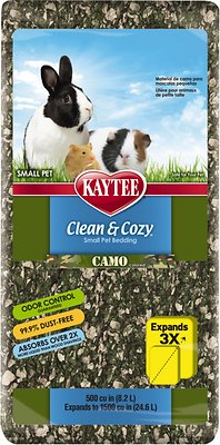 Kaytee Clean & Cozy Small Animal Bedding, Camo, 24.6-L
