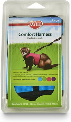 Kaytee Small Animal Harness & Stretchy Leash, Large