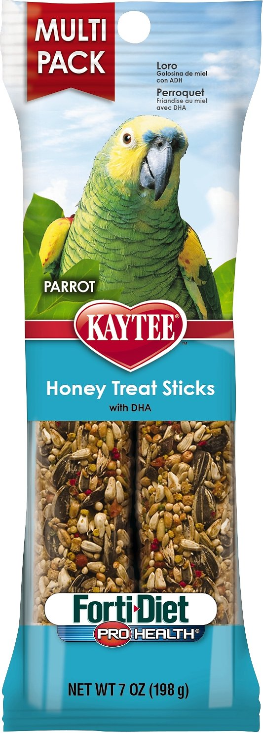 Kaytee Forti-Diet Pro Health Honey Parrot Treat Sticks, 2-count