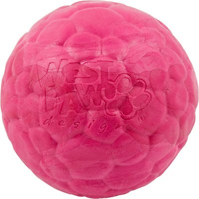 West Paw Zogoflex Air Boz Ball Dog Toy, Currant, Large