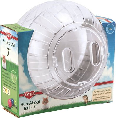 Kaytee Run-About Small Animal Exercise Ball, Clear, 7-in