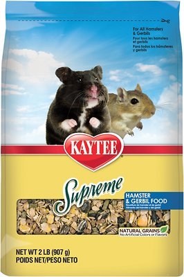 Kaytee Supreme Fortified Daily Diet Hamster & Gerbil Food, 2-lb bag