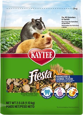 Kaytee Fiesta Gourmet Variety Diet Hamster & Gerbil Food, 2.5-lb bag