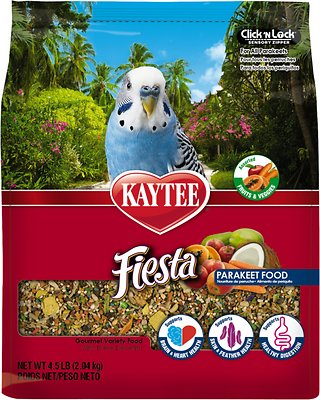 Kaytee Fiesta Variety Mix Parakeet Bird Food, 4.5-lb bag