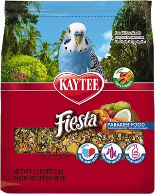 Kaytee Fiesta Variety Mix Parakeet Bird Food, 2-lb bag