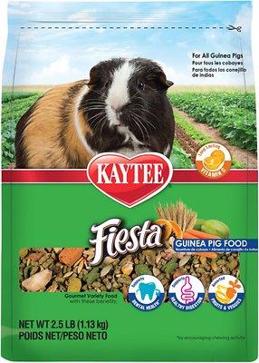 Kaytee Fiesta Gourmet Variety Diet Guinea Pig Food, 2.5-lb bag