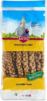Kaytee Natural Spray Millet Bird Treats, 12-count