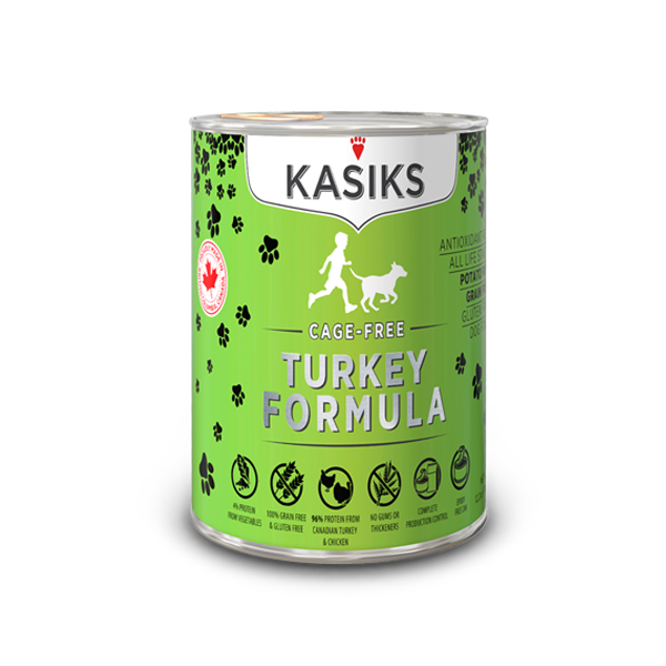KASIKS Cage-Free Turkey Formula Grain-Free Canned Dog Food, 12.2-oz