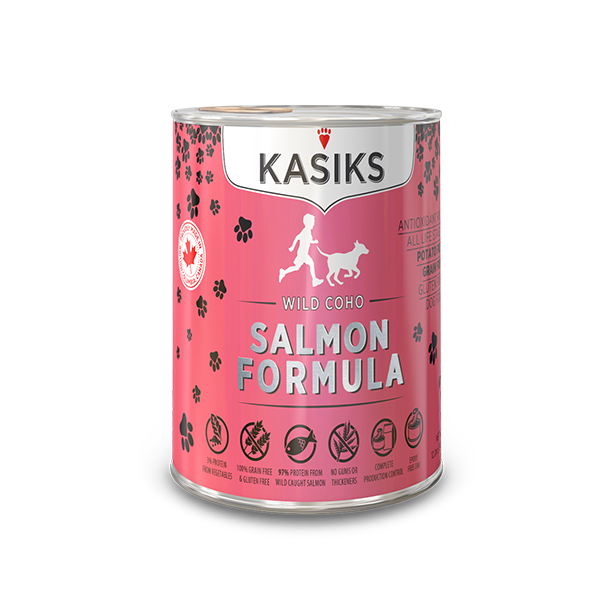 KASIKS Wild Coho Salmon Formula Grain-Free Canned Dog Food, 12.2-oz