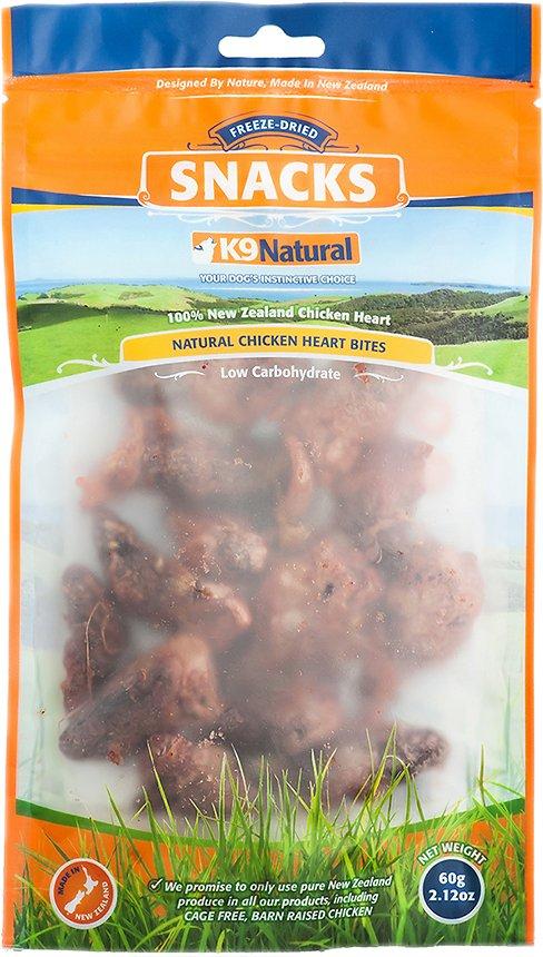 K9 Natural Treats Chicken Hearts Freeze-Dried Dog Treats, 2.12-oz bag