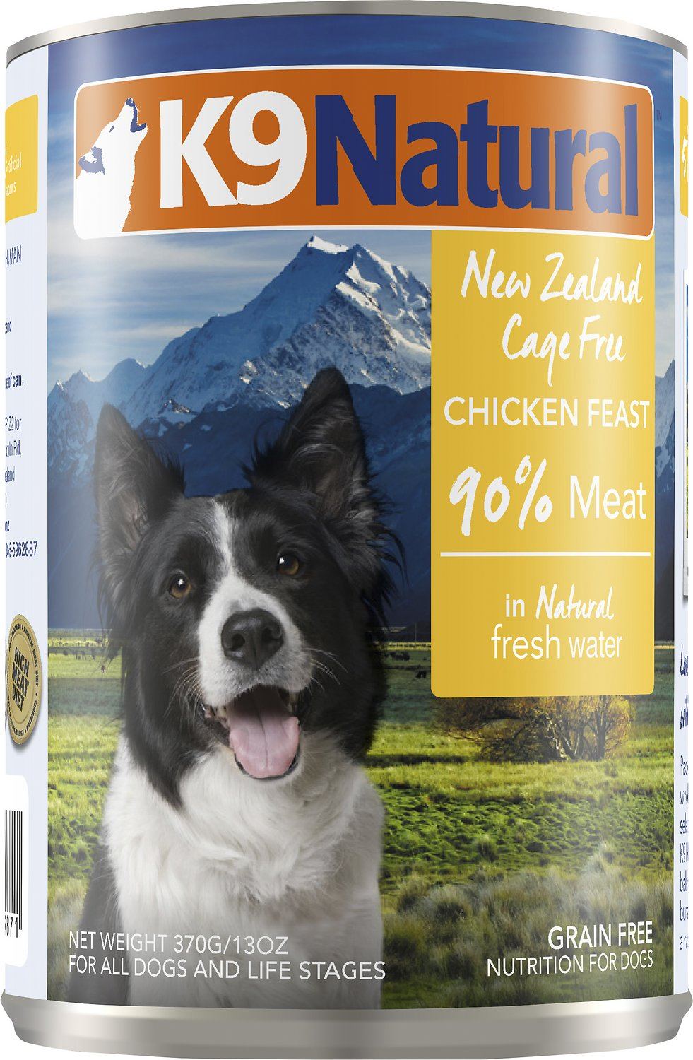 K9 Natural Chicken Feast Grain-Free Wet Dog Food, 6-oz can