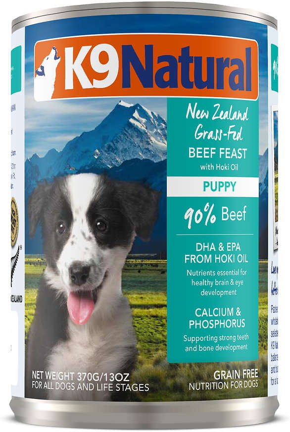 K9 Natural Puppy Beef Feast Grain-Free Wet Dog Food, 13-oz