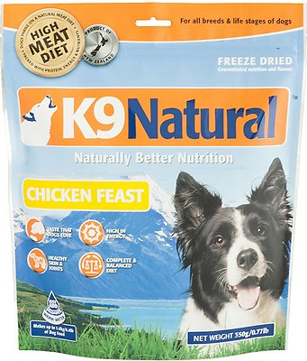 K9 Natural Chicken Feast Grain-Free Freeze-Dried Dog Food, 0.77-lb