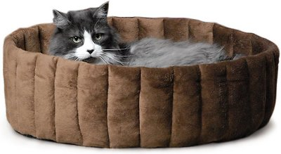 K&H Pet Products Lazy Cup Cat Bed, Tan/Mocha