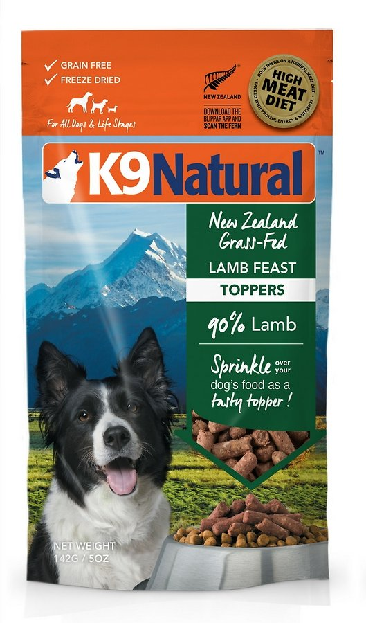 K9 Natural Lamb Feast Grain-Free Freeze-Dried Dog Food Topper, 5-oz bag