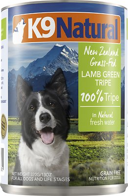 K9 Natural 100% Lamb Green Tripe Grain-Free Canned Dog Food, 13-oz, case of 12