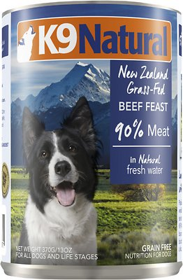 K9 Natural Beef Feast Grain-Free Canned Dog Food, 13-oz, case of 12