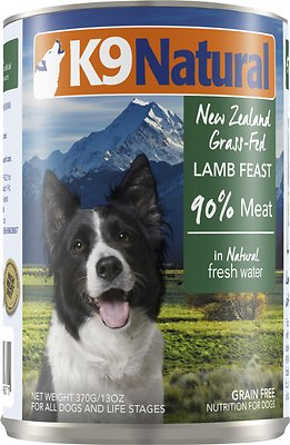 K9 Natural Lamb Feast Grain-Free Canned Dog Food, 13-oz, case of 12