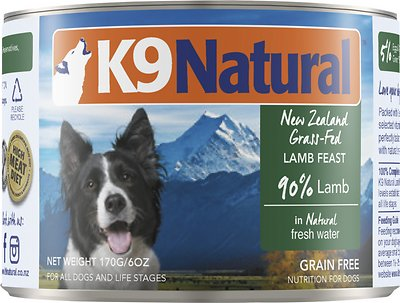 K9 Natural Lamb Feast Grain-Free Canned Dog Food, 6-oz, case of 24