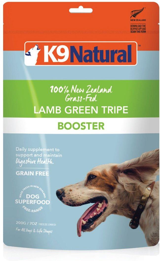 K9 Natural Booster Lamb Green Tripe Grain-Free Freeze-Dried Dog Supplement, 7-oz bag