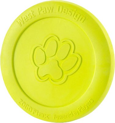 West Paw Zogoflex Zisc Dog Toy, Granny Smith, Small