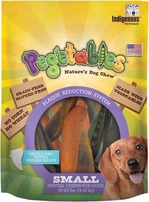 Indigenous Pet Products Pegetables Dental Dog Chews