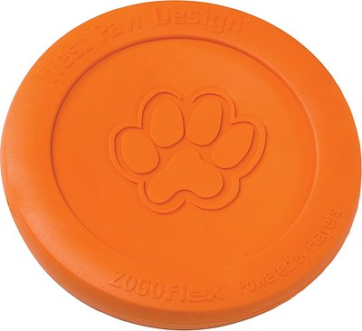 West Paw Zogoflex Zisc Dog Toy, Tangerine