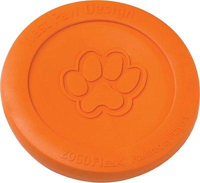 West Paw Zogoflex Zisc Dog Toy, Tangerine, Small