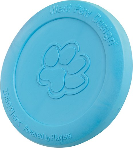 West Paw Zogoflex Zisc Dog Toy, Aqua Blue, Large