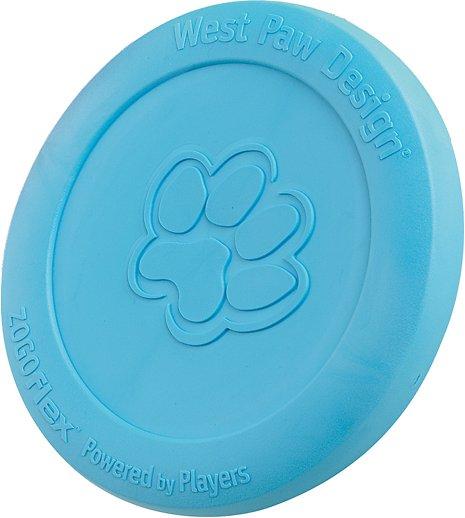West Paw Zogoflex Zisc Dog Toy, Aqua Blue, Small