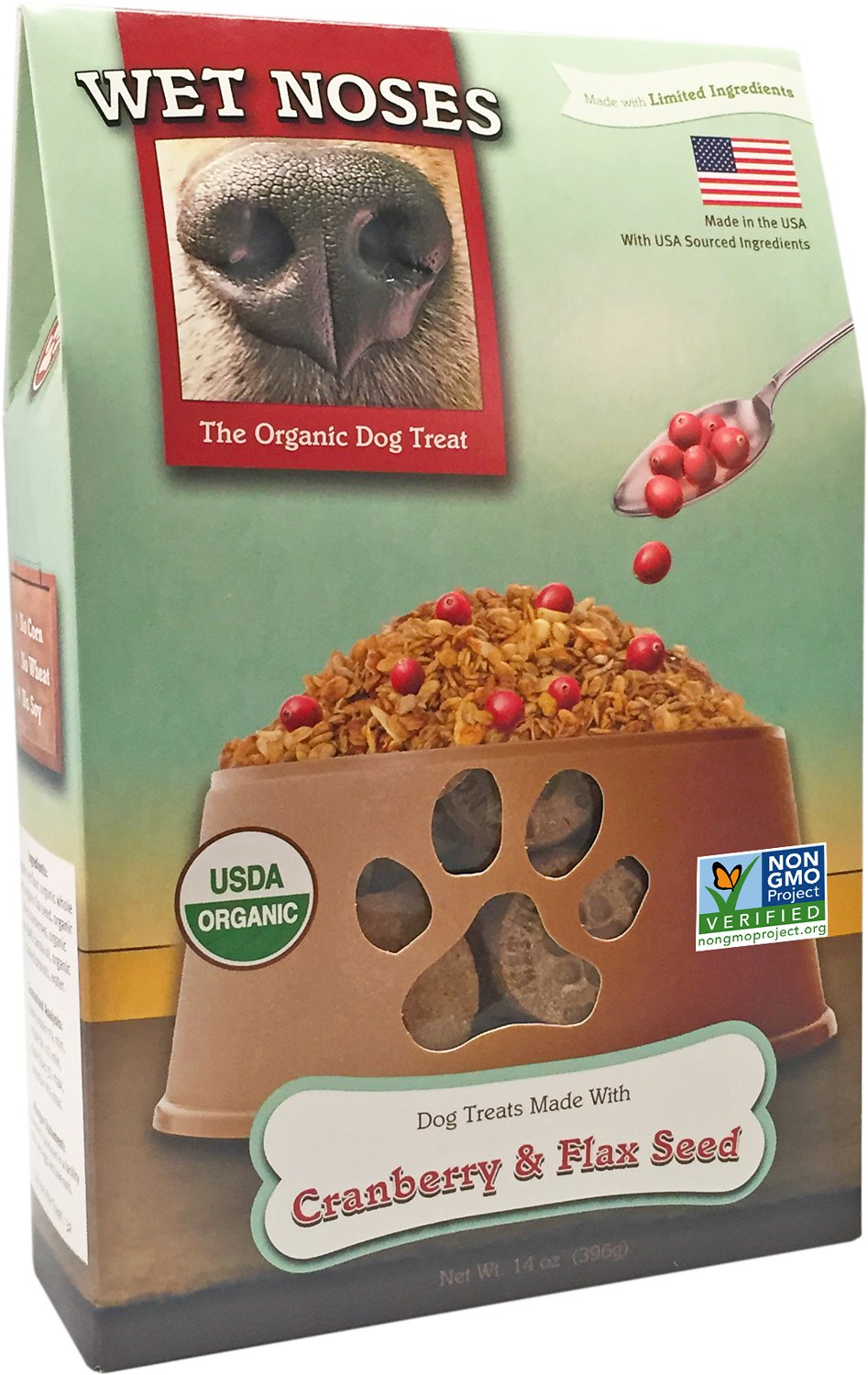 Wet Noses Cranberry & Flax Seed Dog Treats