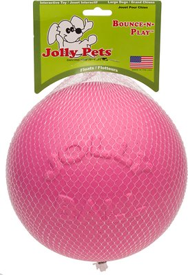 Jolly Pets Bounce-n-Play Dog Toy, Pink