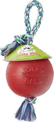 Jolly Pets Romp-n-Roll Dog Toy, Red