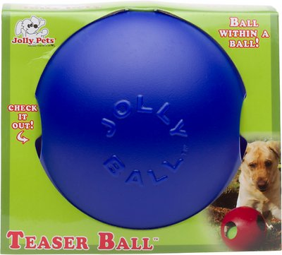 Jolly Pets Teaser Ball Dog Toy, Blue