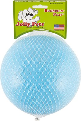 Jolly Pets Bounce-n-Play Dog Toy, Blueberry