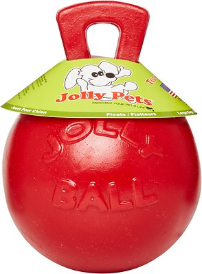 Jolly Pets Tug-n-Toss Dog Toy, Red