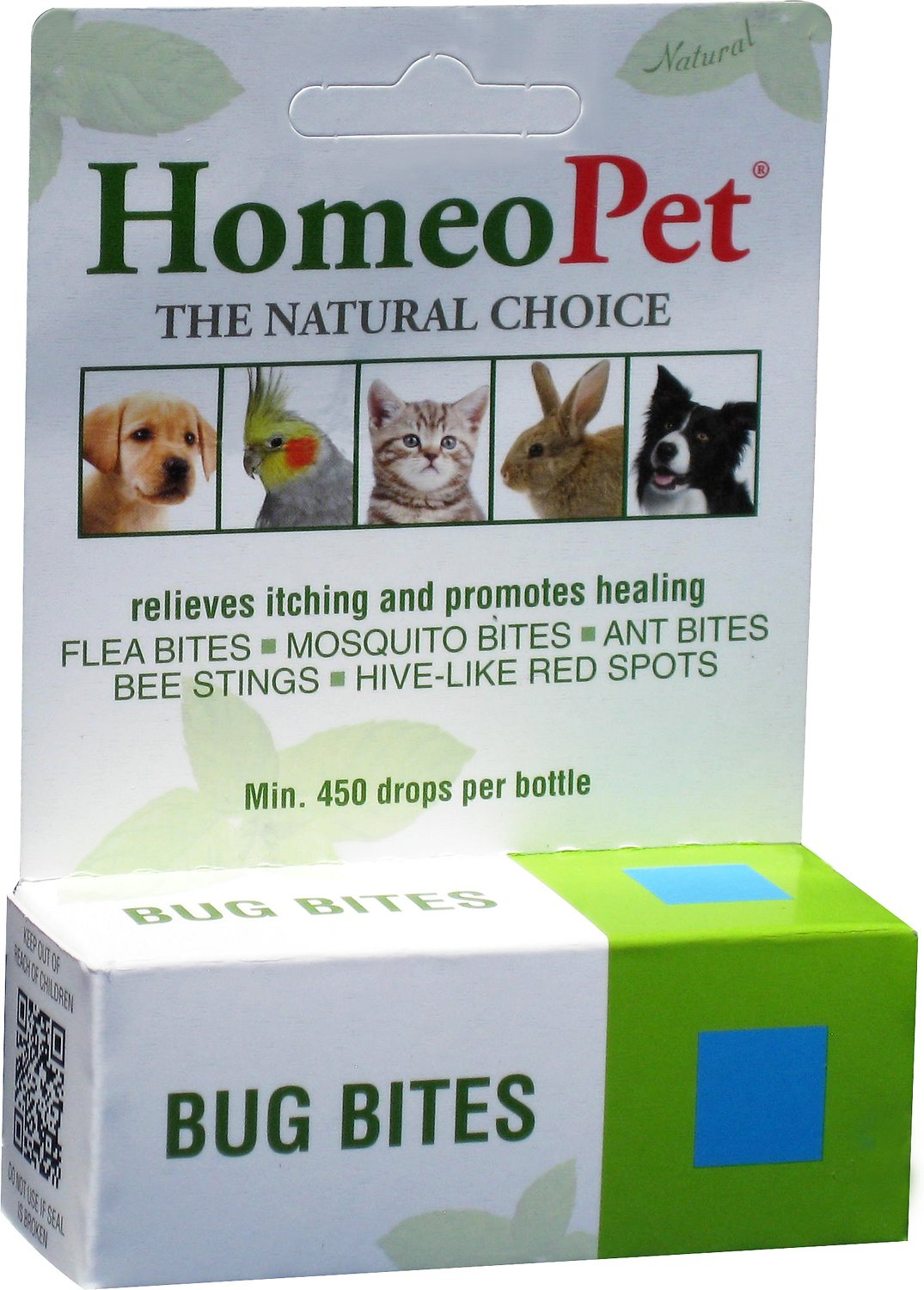 HomeoPet Bug Bites Dog, Cat, Bird & Small Animal Supplement, 450 drops